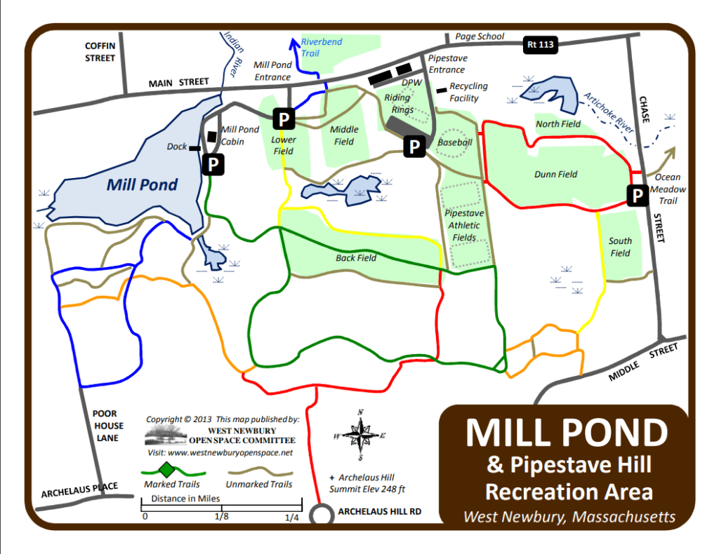 Map of Pipestave Hill and Mill Pond
